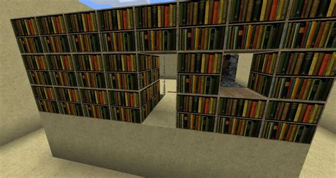 bookshelf piston door minecraft project