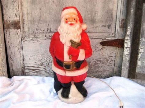 outdoor plastic lighted santa claus celluloid plastic santa clause 50s lighted santa clause