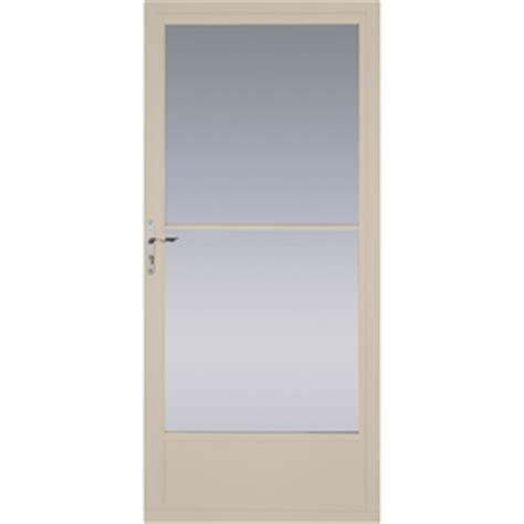 pella retractable screen door shop pella tan mid view tempered glass retractable screen