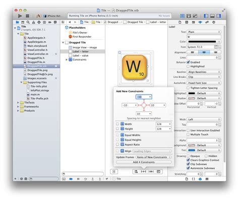 xcode layout builder ios make font grow together with uilabel resized by