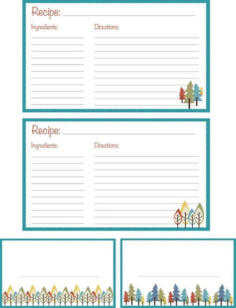 printable recipe cards 25 free printable recipe cards home cooking memories