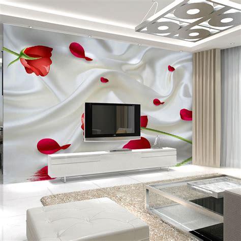 Wallsticker Wall Sticker Stiker New Flower Bunga Merah Cantik aliexpress buy bedroom wall decal murals wallpaper flower image print tv sofa