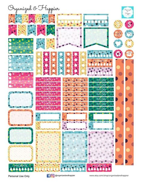 printable dot stickers 25 best ideas about planner stickers on pinterest