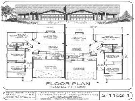 duplex plans with garage single story duplex floor plans single story duplex house
