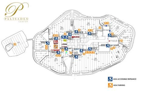 layout of palisades mall help guest services accessibility at palisades center