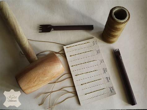 Alat Emboss Kulit pricking iron kulitnabati bahan kulit nabati dan alat kerajinan kulit