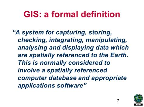 define systemize geographic information system