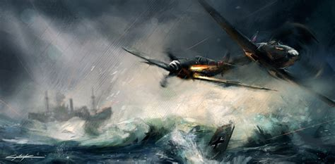spitfire ii v vs bf 1472805763 world war 2 spitfire vs messerschmitt by vitoss on
