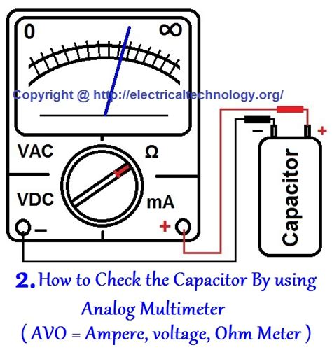 testing a capacitor with a multimeter how to test a capacitor 6 ways to check a capacitor electrical eng