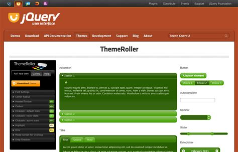 jquery themes builder getting started with jquery ui jquery learning center