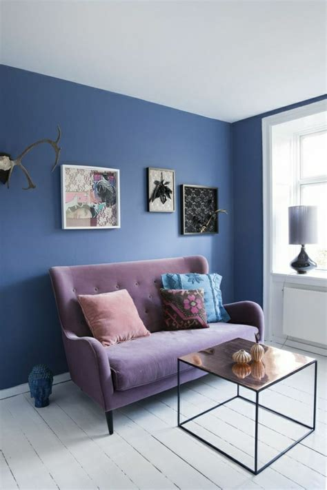Blaues Sofa Welche Wandfarbe by Wandfarben Bilder 40 Inspirierende Beispiele