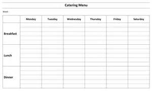 catering menus templates free catering menu template