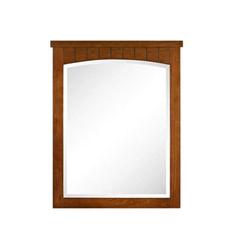 cherry bathroom mirrors style selections 30 in h x 24 in w vancleaf cherry