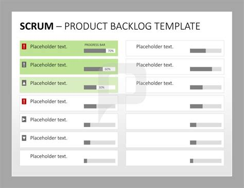 scrum project plan template scrum product management the product backlog template for
