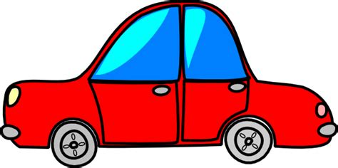 car red cartoon transport clip art  clkercom vector