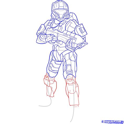 how draw a step 10 how to draw a halo spartan