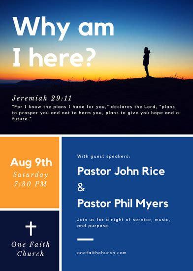 customize  church flyer templates  canva