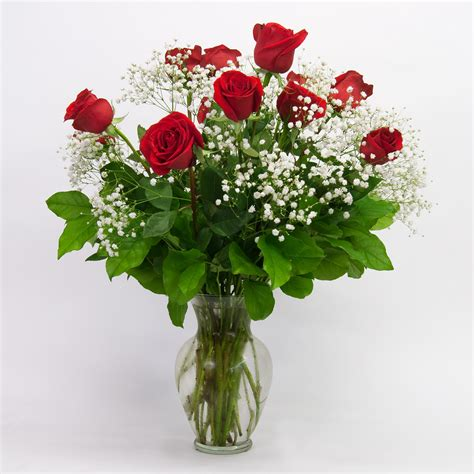 Vases Of Roses by 12 Stemmed Vase Brattle Square Florist