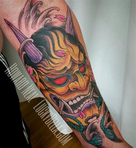hannya mask tattoo colour hannya mask by howard neal tattoonow