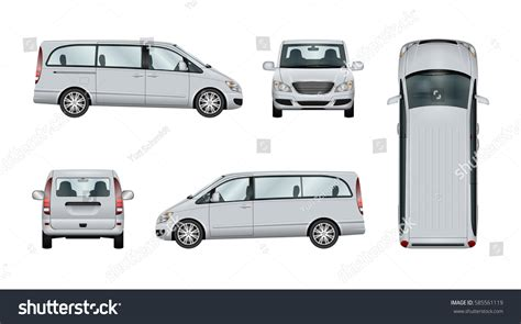 car vector template isolated commercial vehicle stock