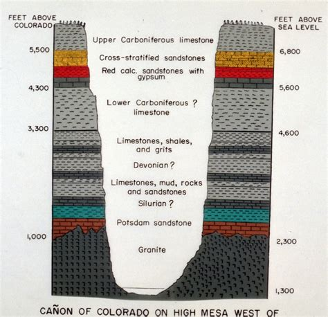 Stratigraphic Section by Geologic Cross Section Of Grand Arizona