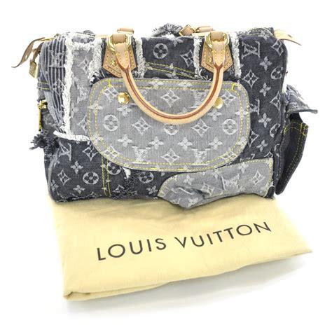 Patchwork Louis Vuitton - louis vuitton denim patchwork speedy black 30750