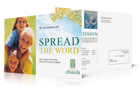 church postcard templates church outreach postcards and common fears about attendance