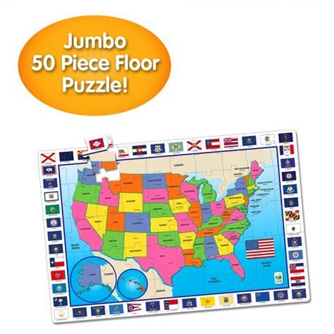 learning journey jumbo floor puzzles usa map