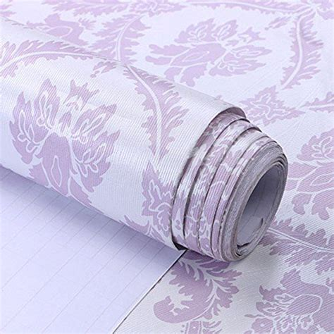 Purple Drawer Liner by Valentines Self Adhesive Wallpaper And Shelves On
