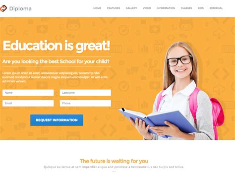 Dreamweaver Templates High Quality Web Templates Dreamweaver Landing Page Template