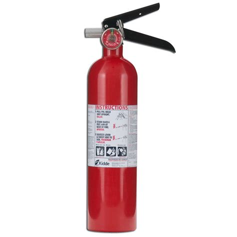 ace hardware fire extinguisher kidde pro 1a10 b c fire extinguisher 21005776 the home depot