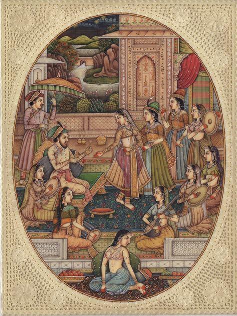 decor painting mughal miniature painting handmade india moghul empire