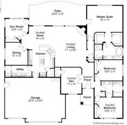 Floor Plans For Ranch Homes by Open Ranch Style Floor Plans Ranch Style House Plans