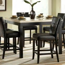 Archstone faux marble counter height dining table black atg stores