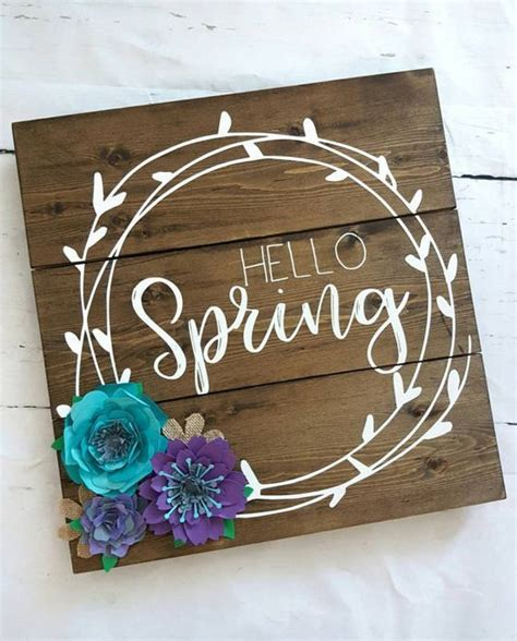hello home decor hello wood sign home decor flowers purple and