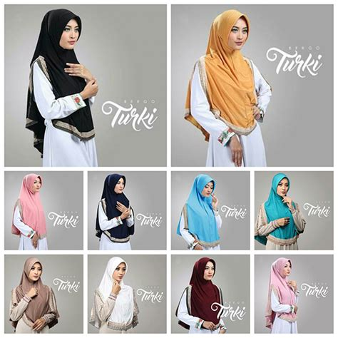 Model Baju Gamis Jilbab Instant Bilbina Kerut instant bergo turki baju gamis terbaru