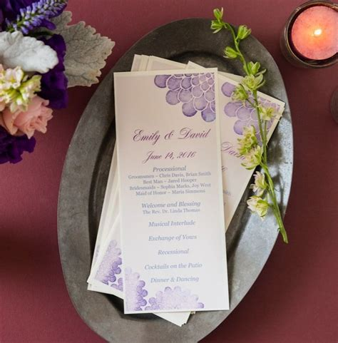 print your own wedding menu cards printing your own diy wedding programs is easy with avery menu cards 16110 and free printable