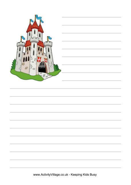 castle writing paper castle writing paper