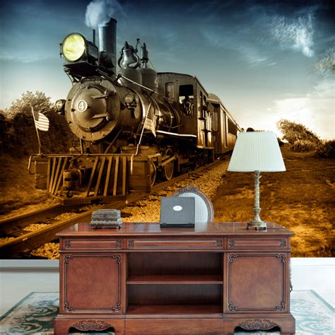 train wallpaper mural gallery