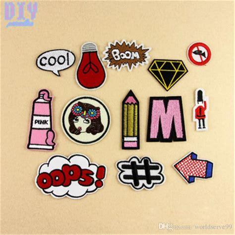 Iron Patches Patchwork Patch Emblem Sticker Bordir 18 discount cool letters pencil iron on patches