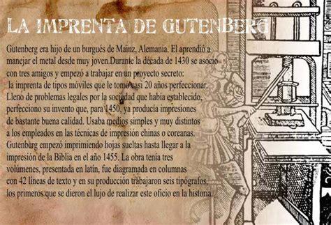 libro la invencin de la gutenberg imprenta de caracteres m 243 viles impresi 243 n