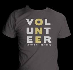 t shirt design for church at the grove volunteers