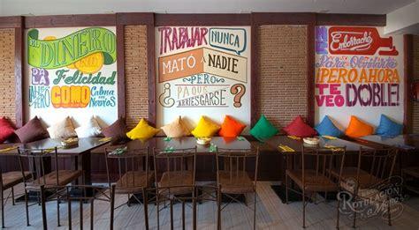 restaurante mexicano colores de mexico murales decoracion