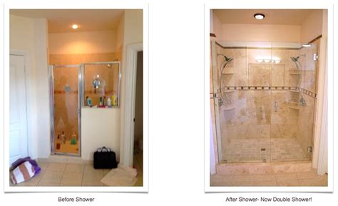 Small Bathroom Shower Stall Ideas Shower Before And After Allure Bathroom Remodeling