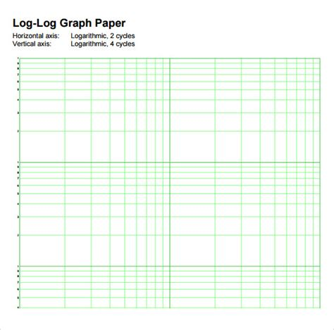 log graph paper template 7 sle log graph papers sle templates