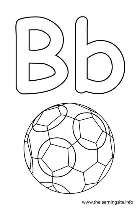 B Coloring Pages by Letter B Coloring Page Consonant Sound Coloring