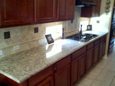 Pictures Of Kitchen Countertops And Backsplashes Granite Counter Top And Backsplash