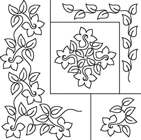 printable quilting stencils flower and leaves on pinterest