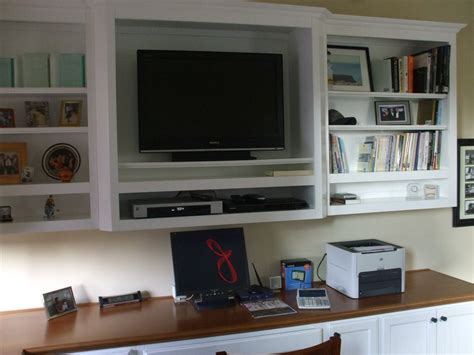 office desk with tv mount built in white computer desk with tv shelf cabinet