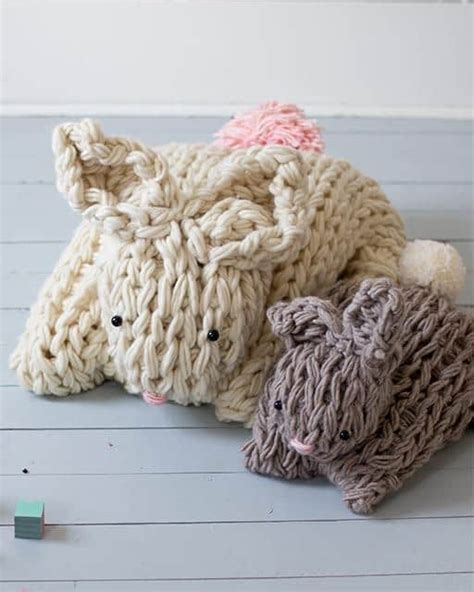 pattern arm knitting arm knit bunny pattern easy diy project you ll love